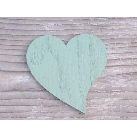 Dekorációs ötletek elkészítéséhez szív fából mentazöld színben - Díszítő apróságok - Kreatív ...