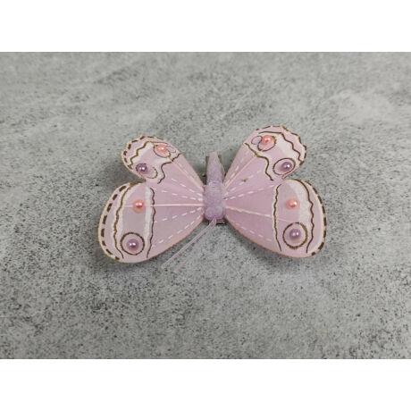 Csipeszes pasztell rózsaszín lepke