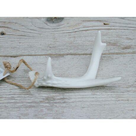 Fehér agancs téli dekoráció