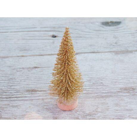Karácsonyi dekoráció arany mini fenyő