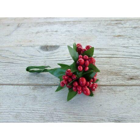 Bogyós pick gombákkal piros színű