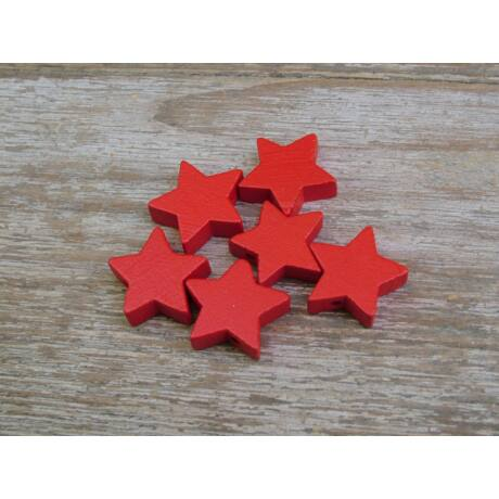 Fa mini csillagok piros színben