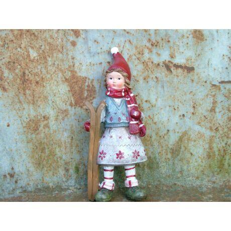 Karácsonyi figura lány silécekkel