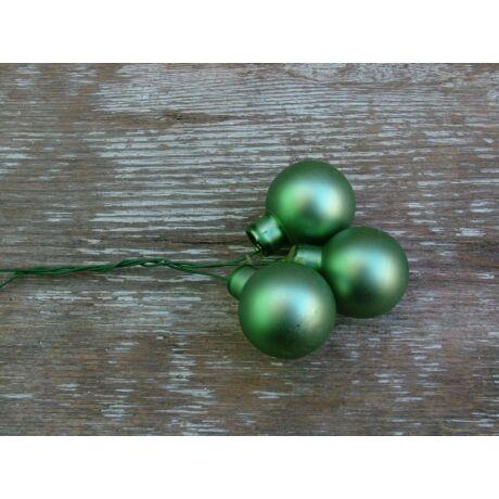 Karácsonyi üveggömb zöld