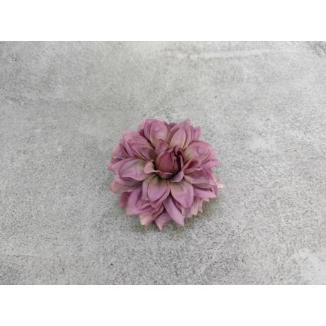 Dália selyemvirág fej lila színben