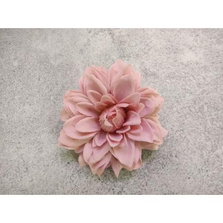 Dália selyemvirág fej rózsaszín