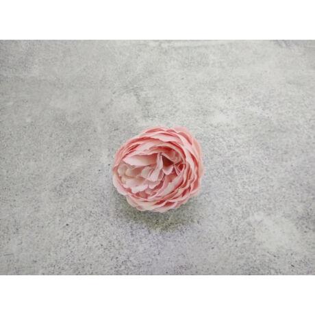 Selyemvirág nyílt rózsa halvány rózsaszín árnyalatban