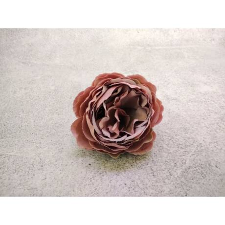Selyemvirág nyílt rózsa mályva színben