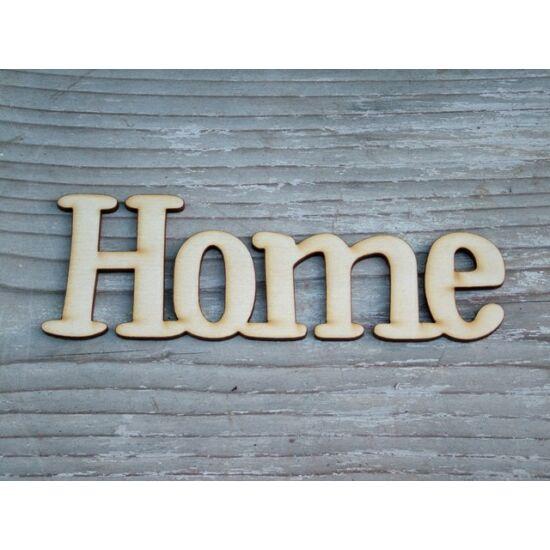 """Otthon dekoráció """"Home"""" felirat fából"""