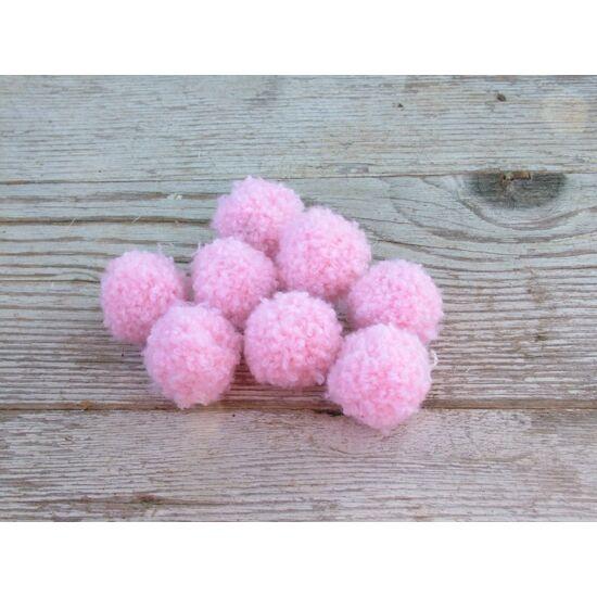Dekorációs kellék gyapjúgolyó bolyhos rózsaszín