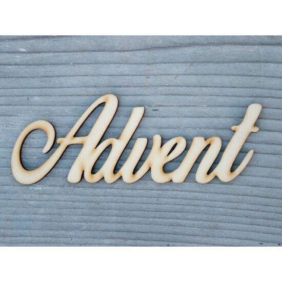 Advent felirat fából