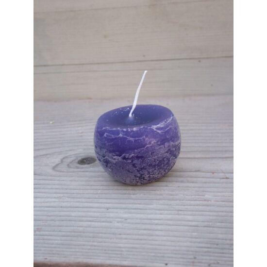 Adventi gömb gyertya rusztikus lila