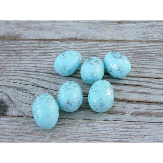Világoskék márvány mintás húsvéti tojás dekor