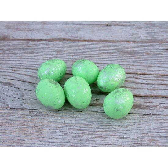 Húsvéti dekorációs kellék világoszöld tojás