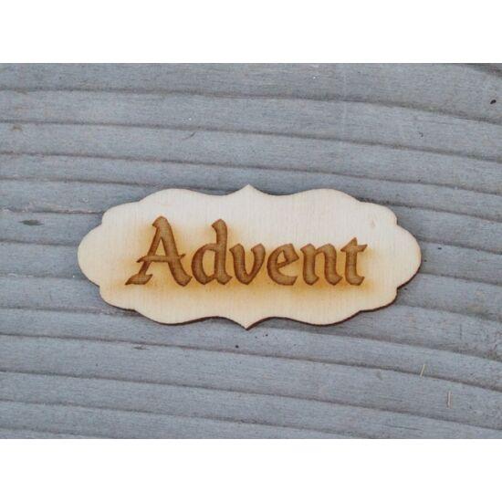 """Adventi dekorációhoz natúr, mini tábla """"Advent"""" felirattal"""
