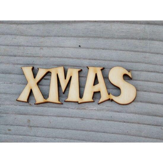 """Karácsonyi dekorációs ötletekhez """"XMAS"""" felirat fából"""