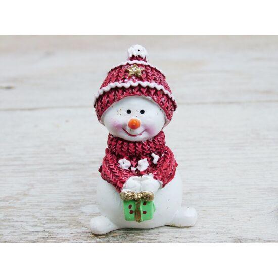 Karácsonyi figura hóember
