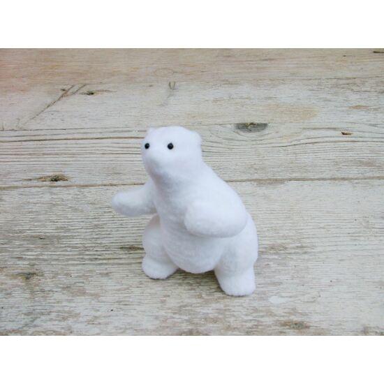 Téli dekor jegesmedve álló
