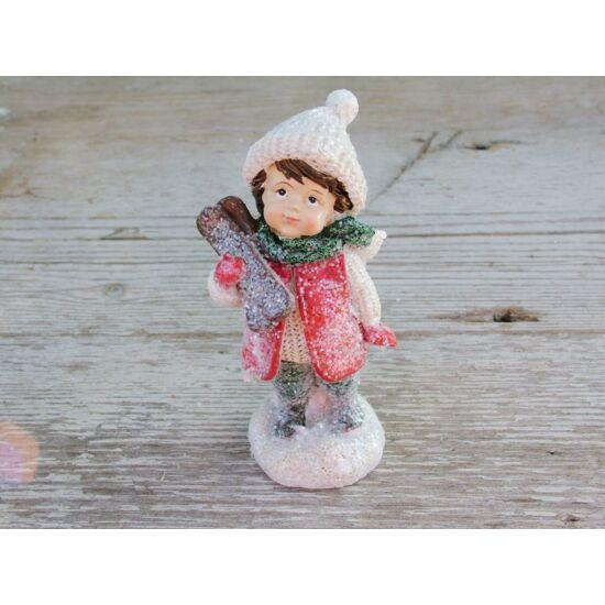Karácsonyi figura álló gyermek