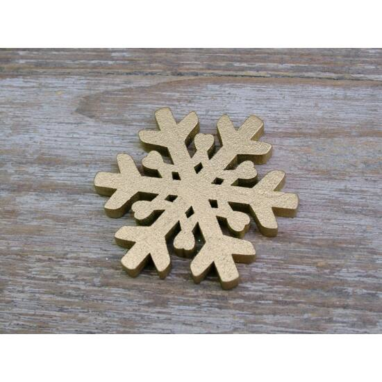 Arany hópehely fából