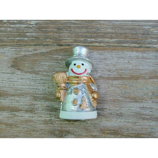 Mini hóember arany-ezüst szín