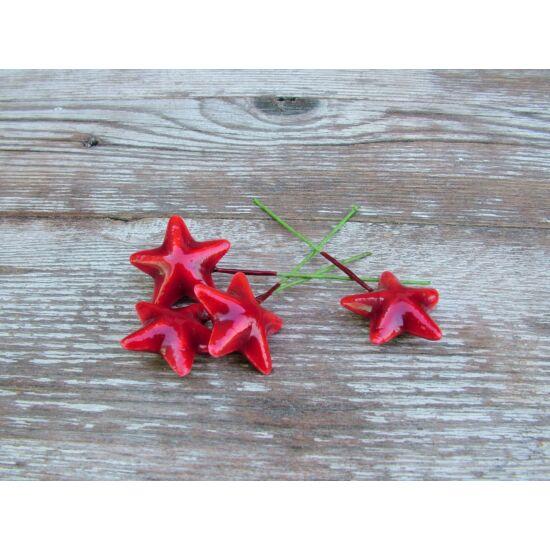 Drótos piros csillag