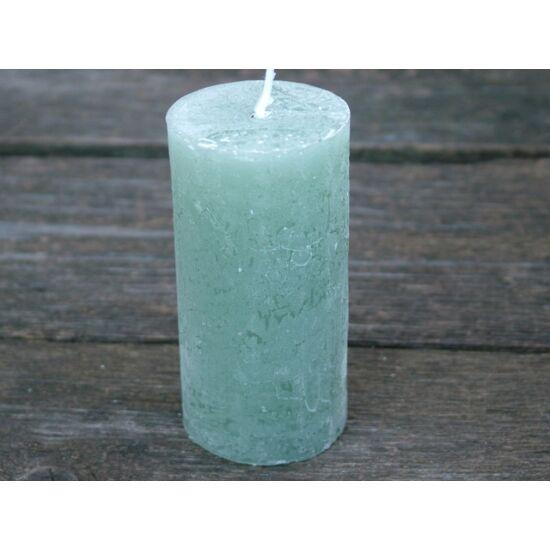 Adventi gyertya rusztikus szürkés zöld