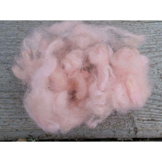 Gyapjú tincs cirmos halvány rózsaszín